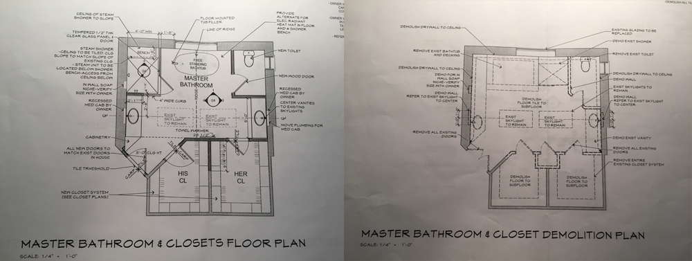 Master Bathroom and Closet Space Renovation
